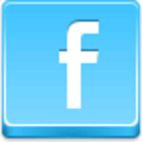 Large icon facebook. Free blue button icons