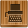 Free Wood Button Typewriter Image