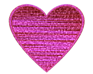 Heart D Textured Pink Image