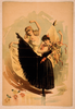 [two Women Dancing, One In Yellow Dress And One In Black Dress With Tambourine] Image