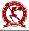 Red Cheerleading Clipart Image