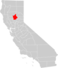 California County Map Butte County Highlighted Clip Art