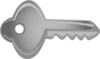 Key Horizontal Clip Art