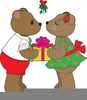 Kissing Bears Clipart Image