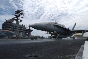 F/a-18 Prepares To Launch Image