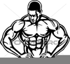 Free Weightlifting Mouse Clipart Image