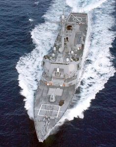 At Sea With The Guided Missile Destroyer Uss Cole (ddg 67) Image