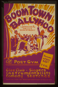 Boom Town Ballyhoo  - Sponsored By The A&r Department - At The Post Gym Glee Club, Singers, Instrumentalists, Comedy Sketches : Selected From The  Boom Town Subdivision  Of The A&r Dept. Image
