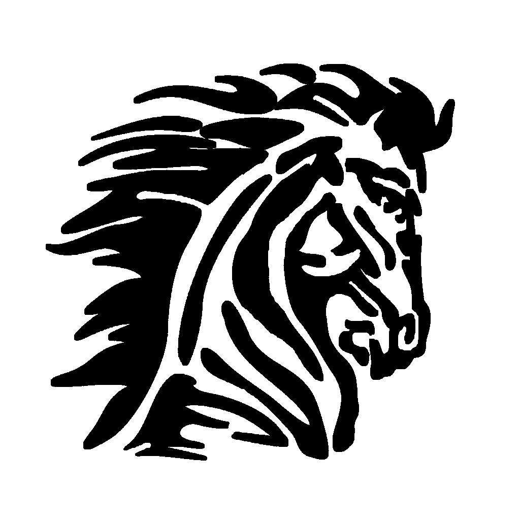 Mustang Logo Blk   Free Images at Clker.com - vector clip art ...