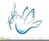Dove With Olive Branch Clipart Image