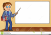 Clipart Of A Man And Whiteboard Image