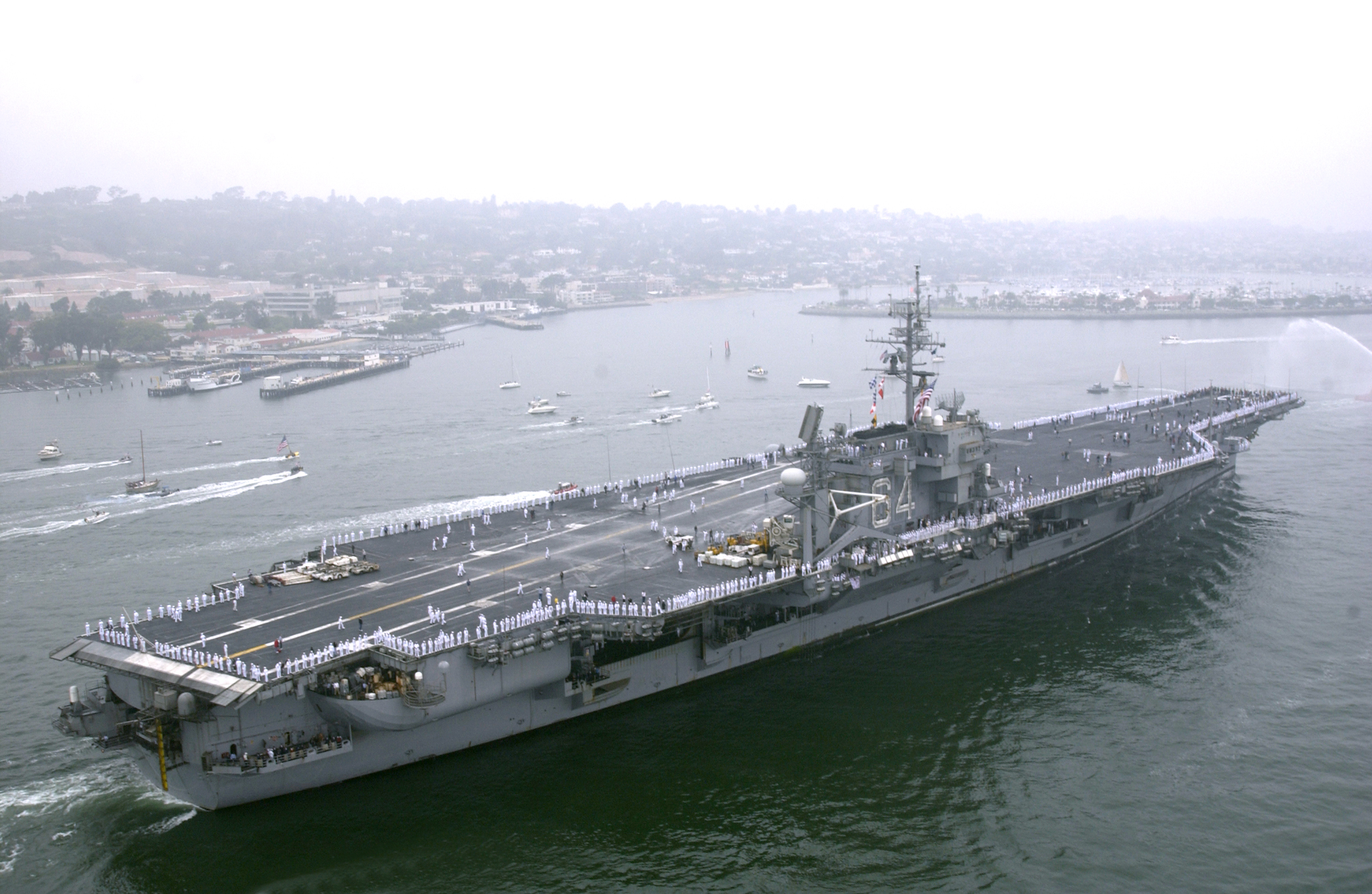 uss constellation  cv 64  returns to its homeport of san diego  calif   following and extended