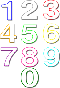 Numbers Outline Clip Art