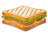 Ham Cheese Sandwich Clipart Image