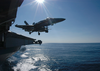 An F/a-18 Hornet Assigned To Carrier Air Wing Seven (cvw-7) Launches Off One Of The Four Steam-powered Catapults On The Flight Deck Of Uss George Washington (cvn 73). Image