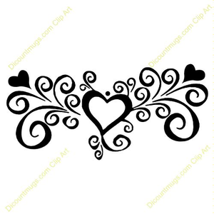 Heart fancy. Clipart free images at