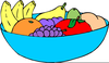 Bowls Of Fruit Clipart Image