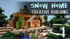 Minecraft Snowy House Image