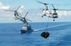 Two Ch-46d Sea Knights Transport Cargo Image