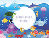 Cartoon Ocean Animal Clipart Image