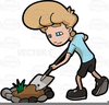 Free Clipart Garden Cartoon Image