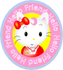 Hello Friend Cat Clip Art