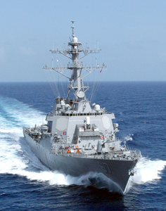 At Sea With The Guided Missile Destroyer Uss Cole (ddg 67). Image
