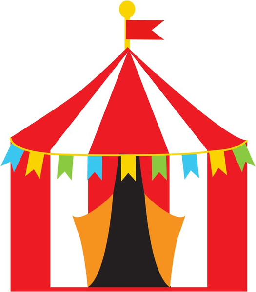 free carnival tent clipart free images at clker com vector clip rh clker com circus tent top clipart circus tent clip art with pendants