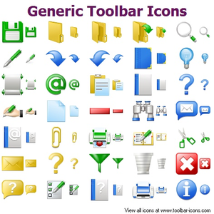 Generic Toolbar Icons Image