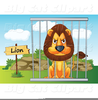 Animals In Cages Clipart Image