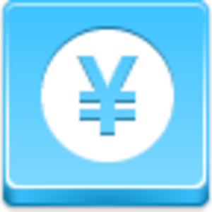Free Blue Button Icons Yen Coin Image