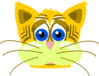 Sad Tiger Cat Clip Art