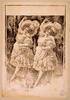 [two Women Dancing In Ruffled Costumes And Hats] Image
