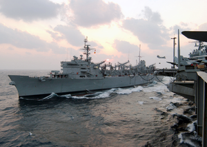 Uss Camden And Uss Lincoln Conduct An Unrep Image
