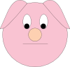 Sad Piggy Clip Art