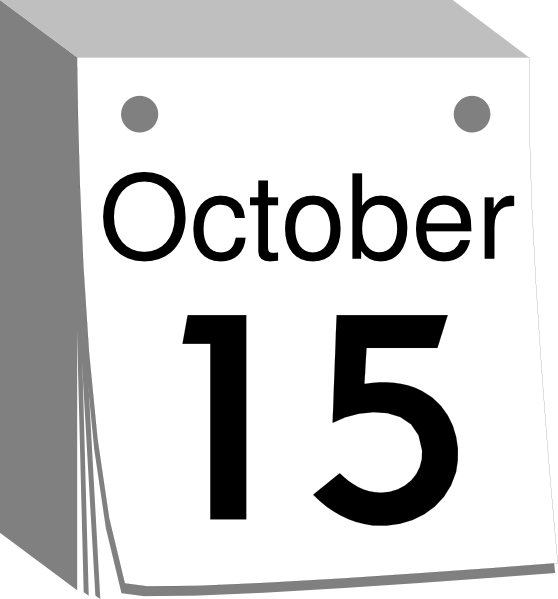 Calendar Date Clipart : October calendar date clip art at clker vector
