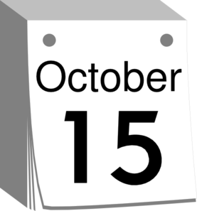 Save the Date Clip Art http://www.clker.com/clipart-october-calendar-date.html