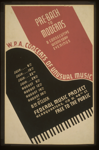 W.p.a. Concerts Of Unusual Music Pre-bach To Moderns : 8 Consecutive Wednesday Evenings. Image