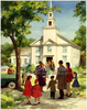Black Family Going To Church Clipart Image