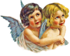Vintage Angel Pair Hugging Right Image