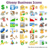 Glossy Business Icons Image