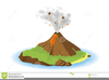 Volcano Eruption Clipart Image