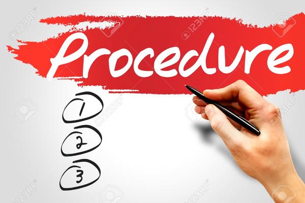 Procedure clipart