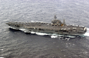 Kitty Hawk Conducts Flight Operations At Sea  During Exercise Keen Sword 2003 Off The Coast Of Southern Japan. Image