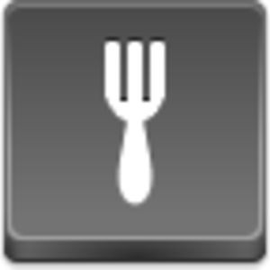 Free Grey Button Icons Fork Image