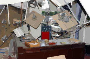Damaged Office Inside The Pentagon Clip Art