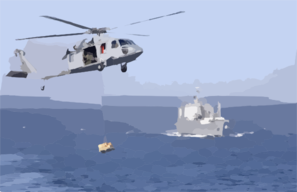Sh-60 Approaches The Ship S Flight Deck During An Early Morning Refueling At Sea Clip Art
