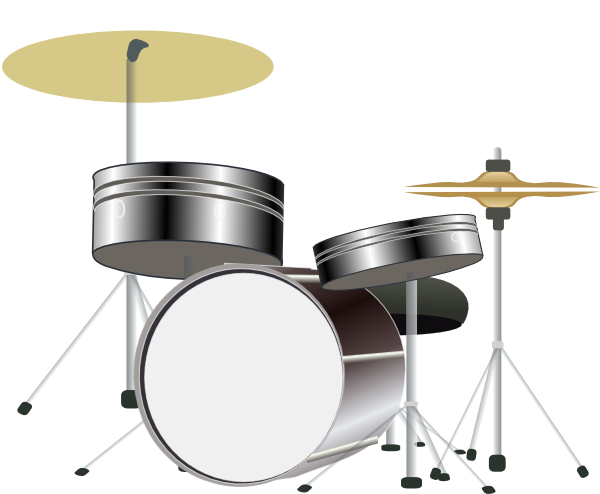 Drum Kit Clip Art at Clker.com - vector clip art online, royalty free ...