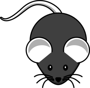 Dark Gray Mouse Clip Art