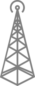 Gray Radio Tower Clip Art